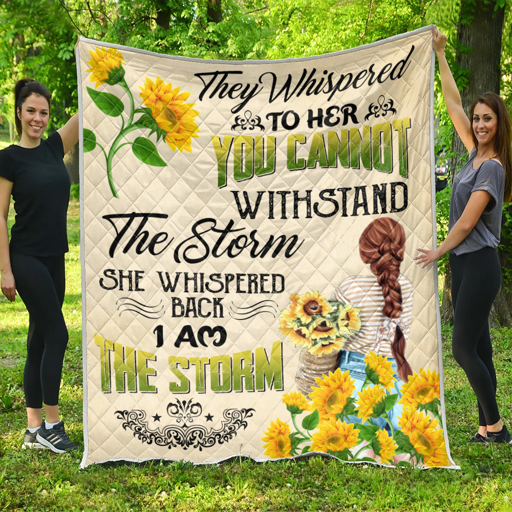 Personalized Quilt Throw Blanket They Whispered To Her You Cannot Withstand Pattern 2 Lightweight Super Soft Cozy For Decorative Couch Sofa Bed