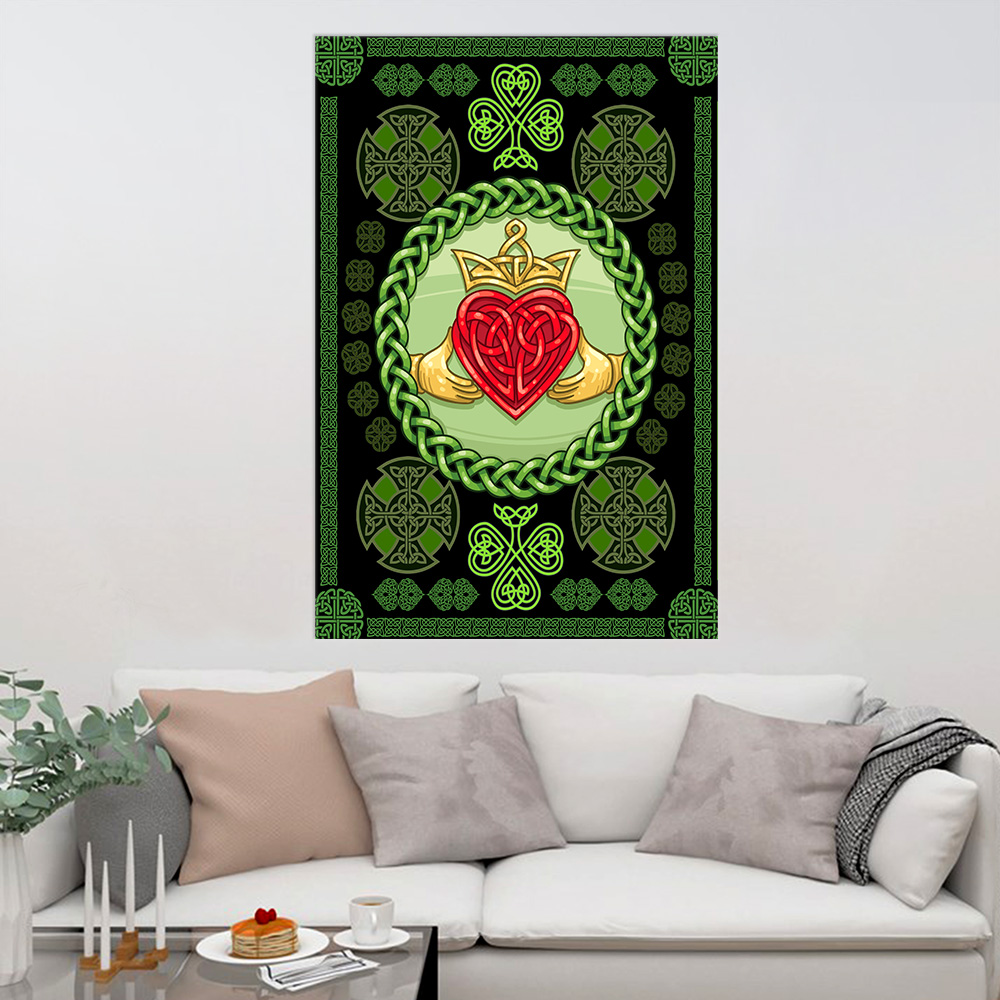 Personalized Lovely Wall Art Poster St Patrick's Day Heart Of Irish Pattern 1 Prints Decoracion Wall Art Picture Living Room Wall