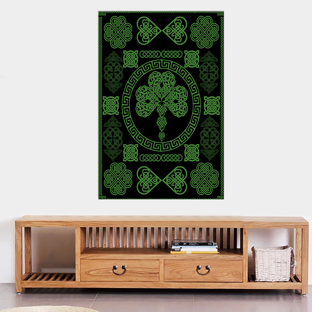 Personalized Lovely Wall Art Poster St Patrick's Day Heart Of Irish Pattern 2 Prints Decoracion Wall Art Picture Living Room Wall