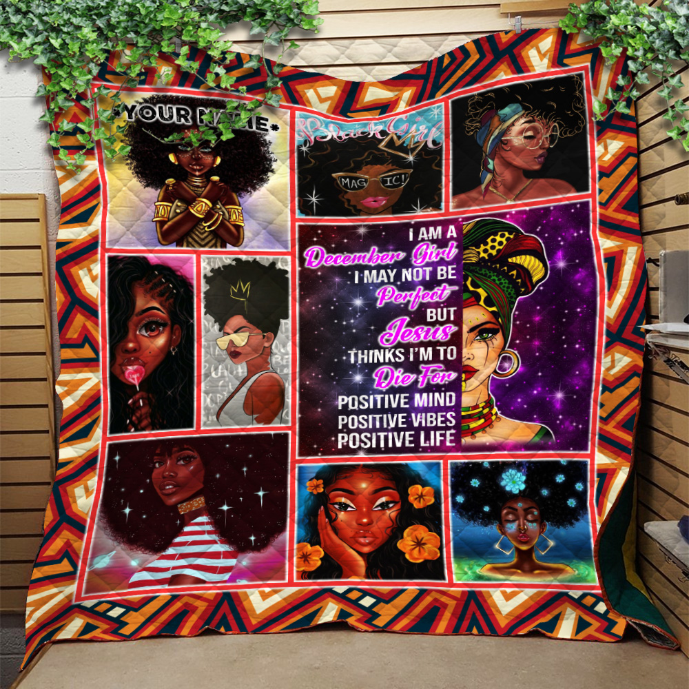 Personalized Quilt Throw Blanket December Girl I'm Not Be Perfect But Jesus Think I'm To Die For Pattern 2 Lightweight Super Soft Cozy For Decorative Couch Sofa Bed