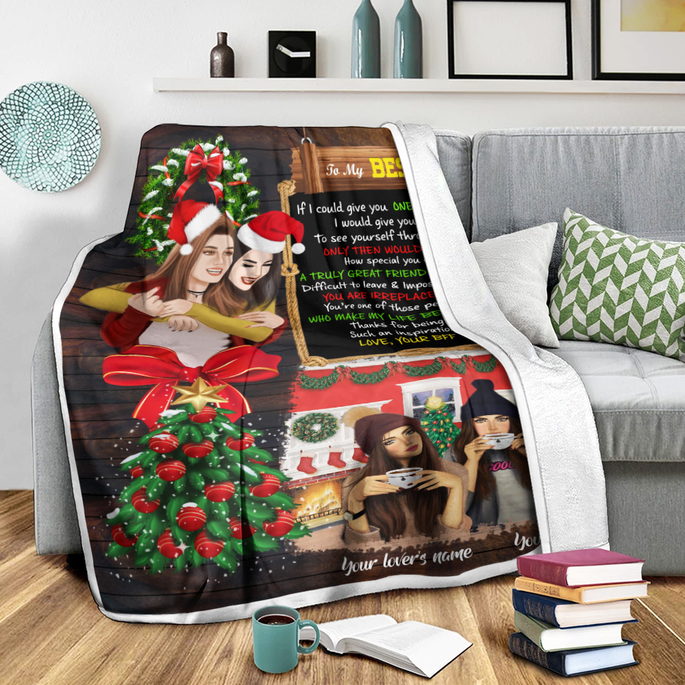 Personalized Fleece Throw Blanket To My Bestie Thanks For Being Such An Inspiration Pattern 1 Lightweight Super Soft Cozy For Decorative Couch Sofa Bed