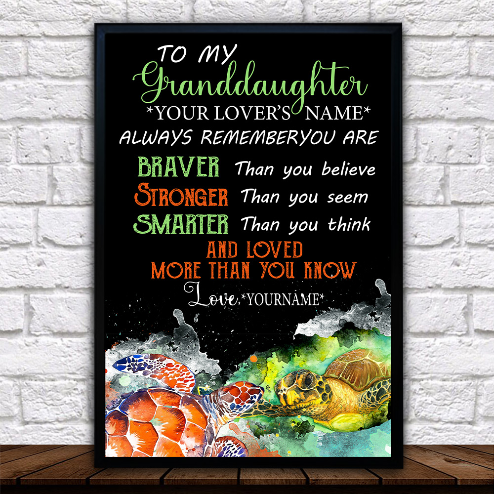Personalized Wall Art Poster Canvas 1 Panel To My Granddaughter Always Remember You Are And Love More Than You Know Pattern 1 Great Idea For Living Home Decorations Birthday Christmas Aniversary