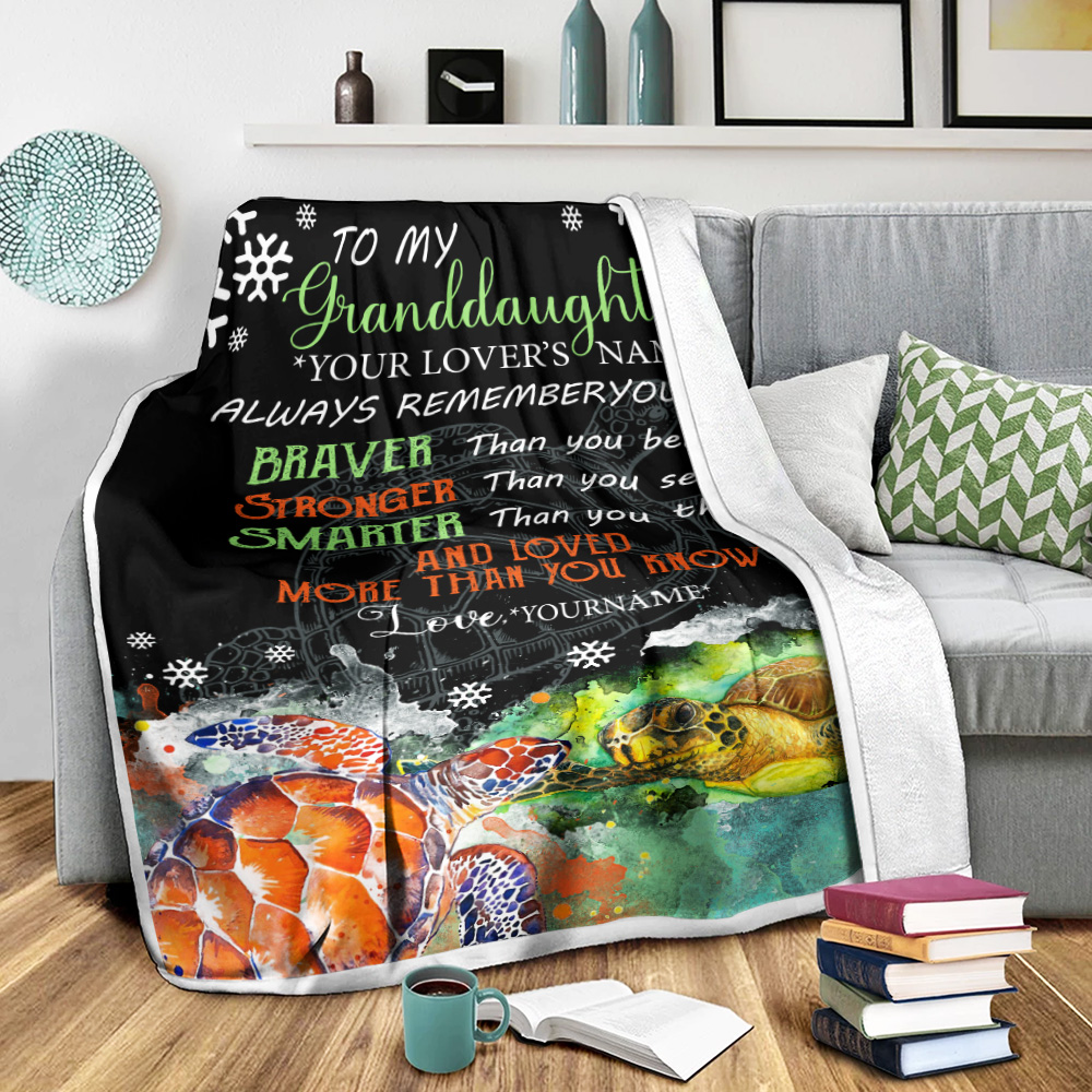 Personalized Fleece Throw Blanket To My Granddaughter Always Remember You Are And Love More Than You Know Pattern 1 Lightweight Super Soft Cozy For Decorative Couch Sofa Bed