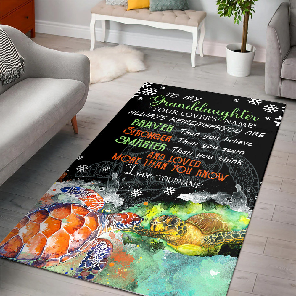 Personalized Floor Area Rugs To My Granddaughter Always Remember You Are And Love More Than You Know Pattern 1 Indoor Home Decor Carpets Suitable For Children Living Room Bedroom Birthday Christmas Aniversary