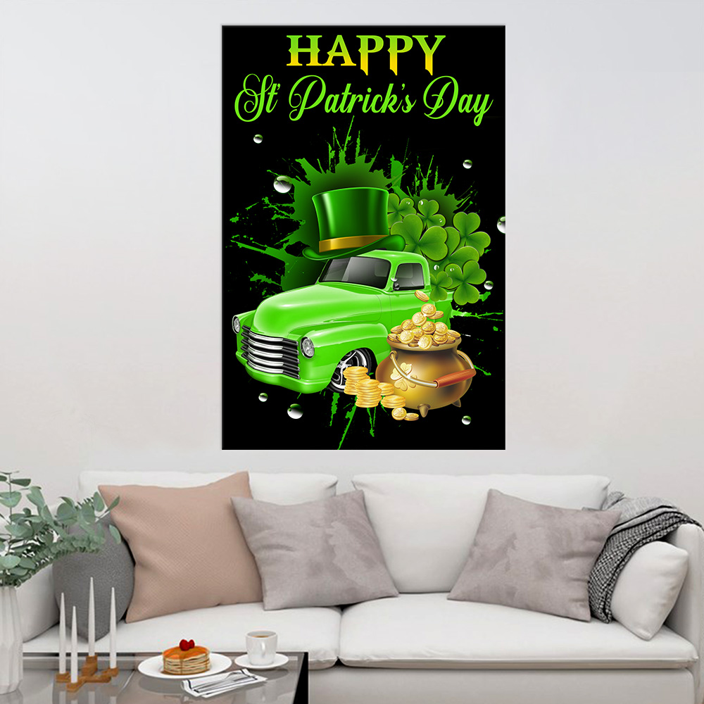 Personalized Lovely Wall Art Poster Happy Irish St Patrick's Day Pattern 1 Prints Decoracion Wall Art Picture Living Room Wall