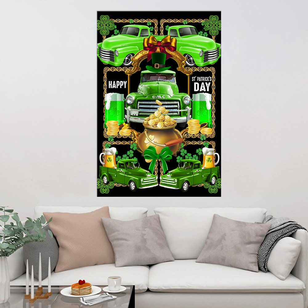 Personalized Lovely Wall Art Poster Happy Irish St Patrick's Day Pattern 2 Prints Decoracion Wall Art Picture Living Room Wall