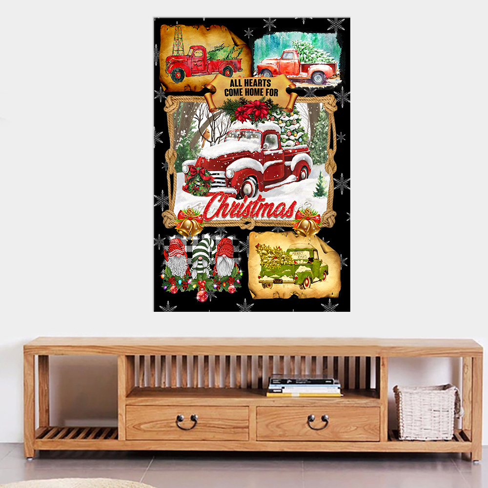 Personalized Wall Art Poster Canvas 1 Panel May The Miracle Of Christmas Fill Your Heart With Joy Pattern 2 Great Idea For Living Home Decorations Birthday Christmas Aniversary