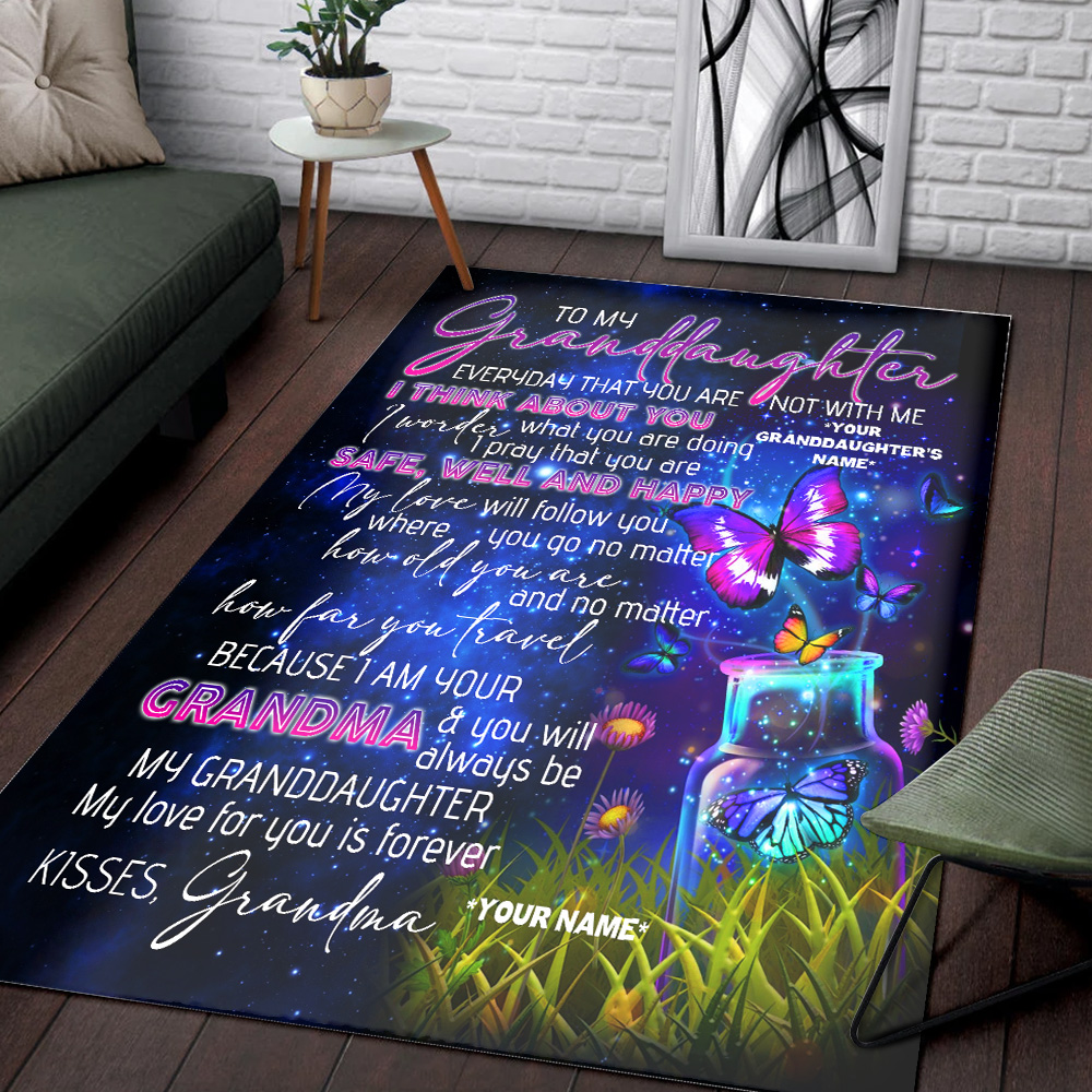 Personalized Floor Area Rugs To My Granddaughter I Pray That You Are Safe, Well And Happy Indoor Home Decor Carpets Suitable For Children Living Room Bedroom Birthday Christmas Aniversary