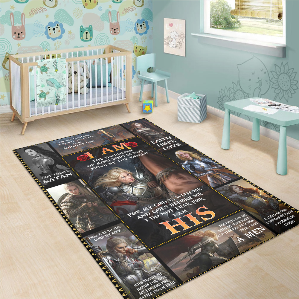 Personalized Floor Area Rugs I Am The Daughter Of A King Who Is Not Moved By The World Indoor Home Decor Carpets Suitable For Children Living Room Bedroom Birthday Christmas Aniversary