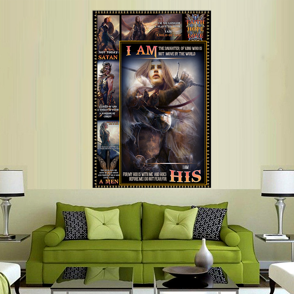 Personalized Wall Art Poster Canvas 1 Panel I Am The Daughter Of A King Who Is Not Moved By The World Great Idea For Living Home Decorations Birthday Christmas Aniversary