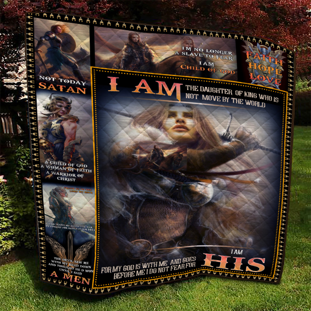 Personalized Quilt Throw Blanket I Am The Daughter Of A King Who Is Not Moved By The World Lightweight Super Soft Cozy For Decorative Couch Sofa Bed