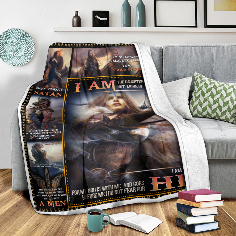 Personalized Fleece Throw Blanket I Am The Daughter Of A King Who Is Not Moved By The World Lightweight Super Soft Cozy For Decorative Couch Sofa Bed