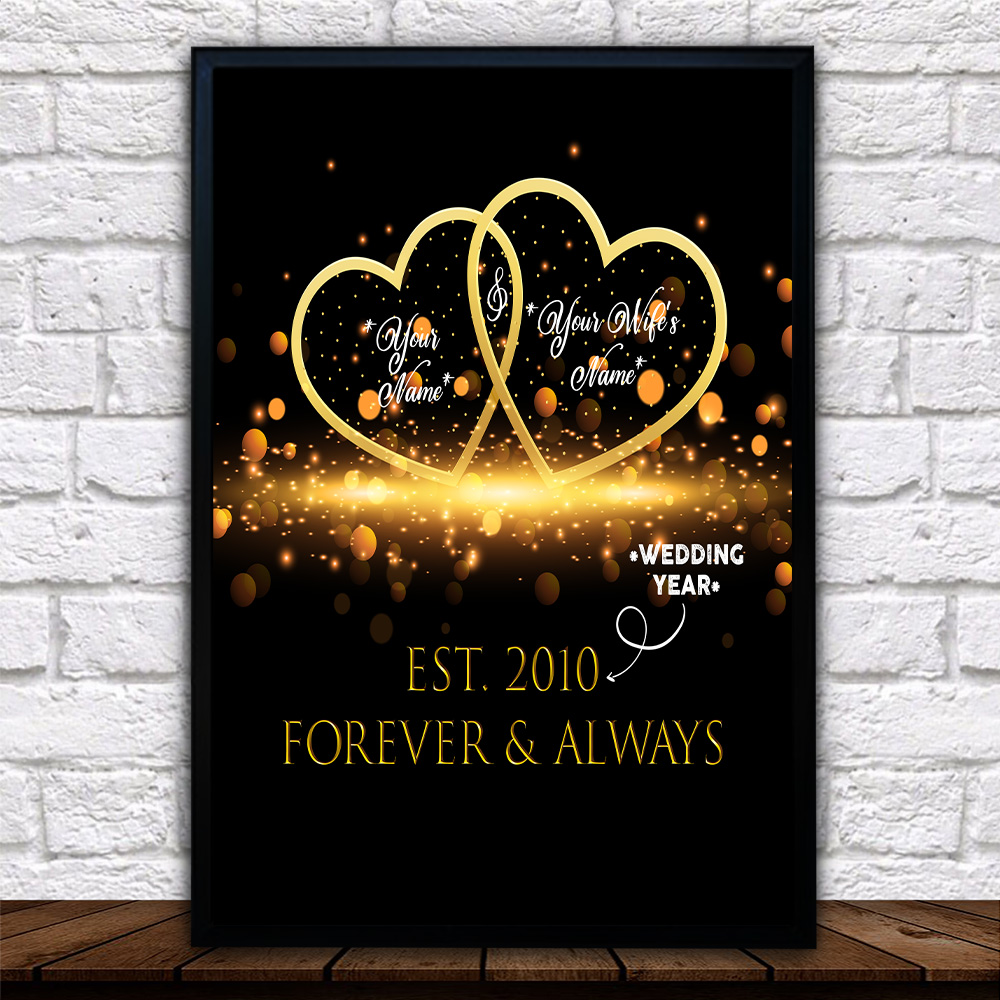 Personalized Wall Art Poster Canvas 1 Panel Customized Blanket For The Closet One To Your Heart Great Idea For Living Home Decorations Birthday Christmas Aniversary