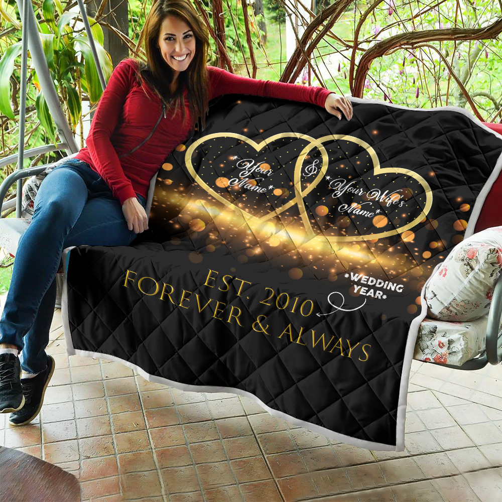 Personalized Quilt Throw Blanket Customized Blanket For The Closet One To Your Heart Lightweight Super Soft Cozy For Decorative Couch Sofa Bed
