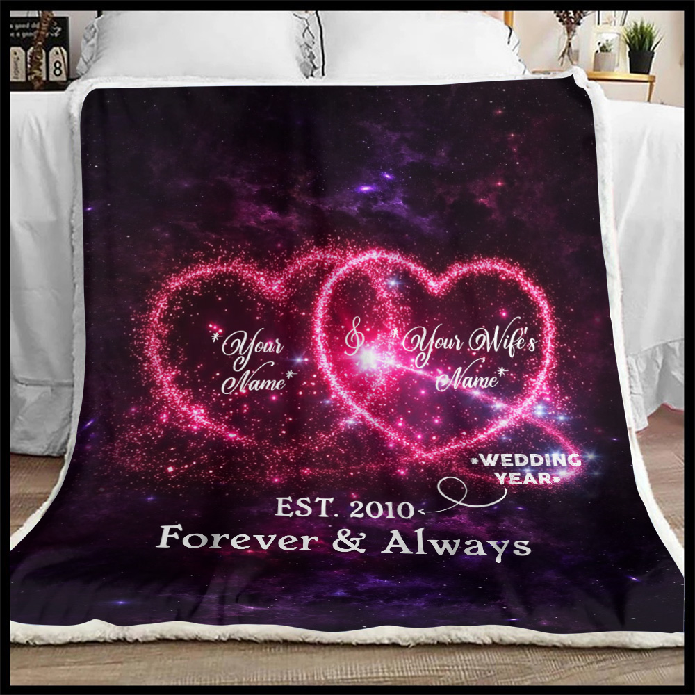 Personalized Fleece Throw Blanket Customized Blanket For The Closet One To Your Heart Lightweight Super Soft Cozy For Decorative Couch Sofa Bed