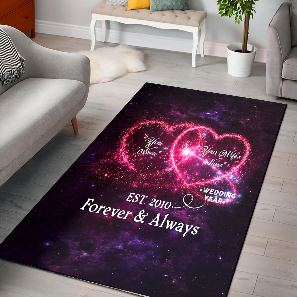 Personalized Floor Area Rugs Customized Blanket For The Closet One To Your Heart Indoor Home Decor Carpets Suitable For Children Living Room Bedroom Birthday Christmas Aniversary