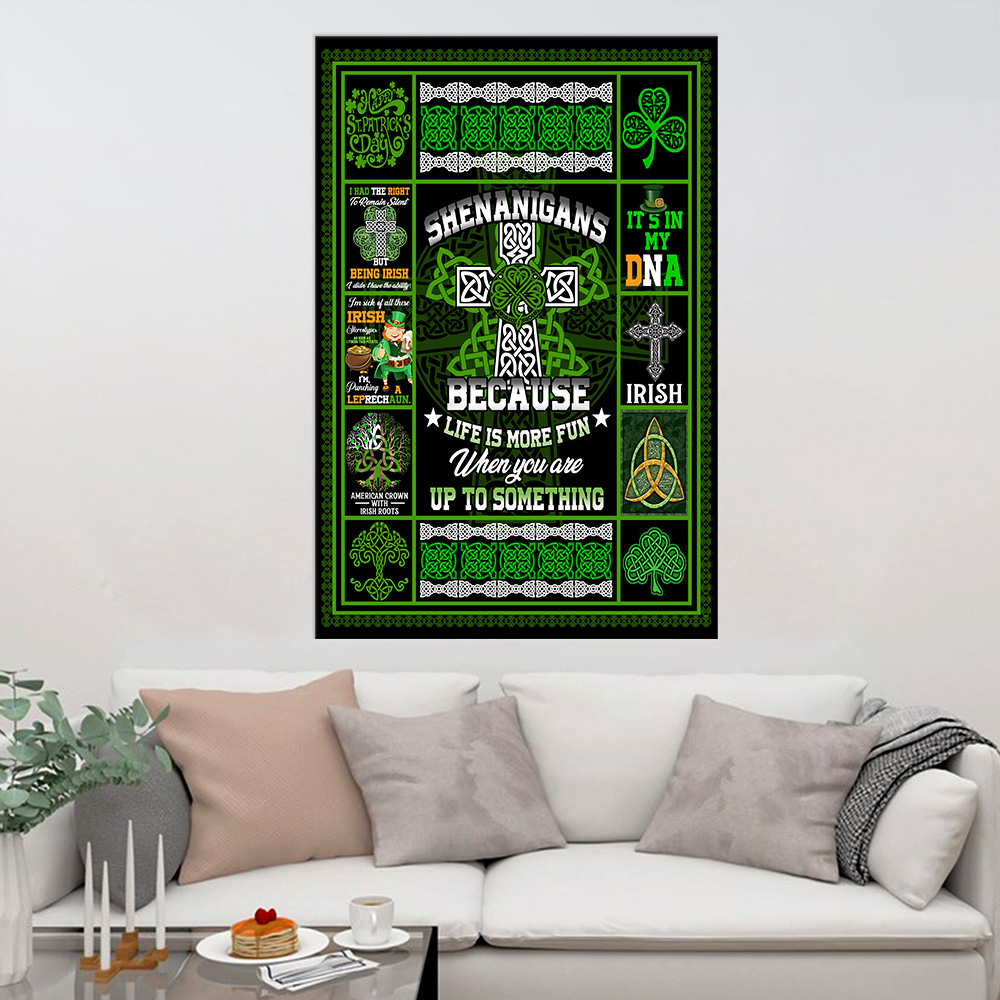 Personalized Lovely Wall Art Poster St Patrick's Day Life Is More Fun When You Are Up To Something Pattern 1 Prints Decoracion Wall Art Picture Living Room Wall