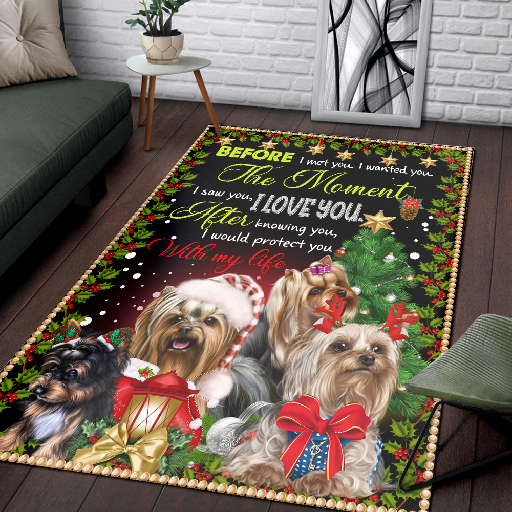 Personalized After Knowing You I Would Protect You With My Life Pattern 2 Vintage Area Rug Anti-Skid Floor Carpet For Living Room Dinning Room Bedroom Office