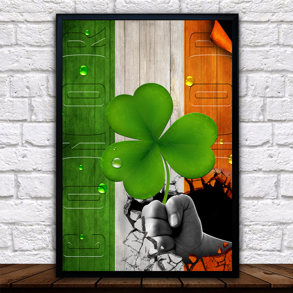Personalized Lovely Wall Art Poster St Patrick's Day Heart Irish Conor Pattern 2 Prints Decoracion Wall Art Picture Living Room Wall