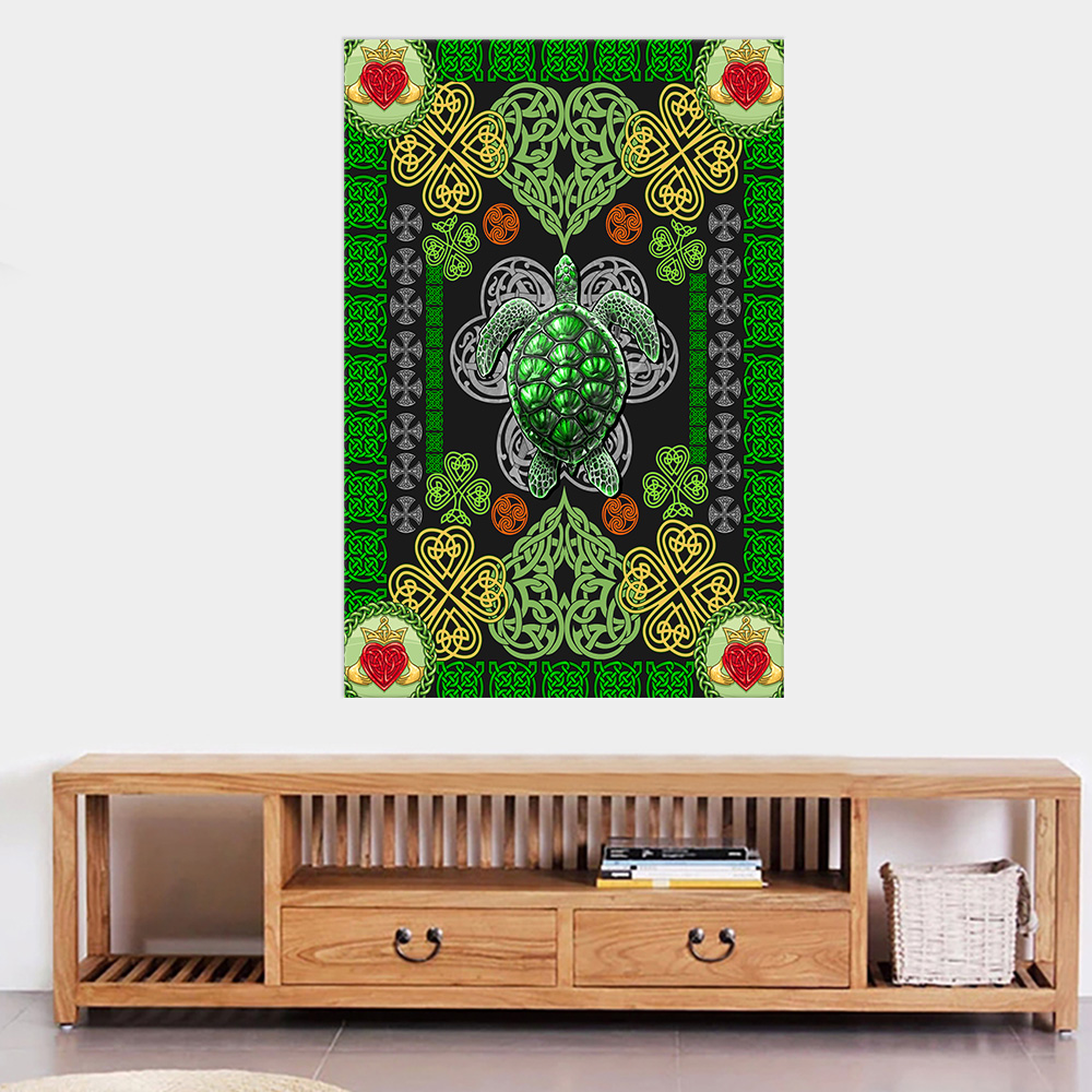 Personalized Lovely Wall Art Poster St Patrick's Day Heart Irish Turtle Pattern 1 Prints Decoracion Wall Art Picture Living Room Wall