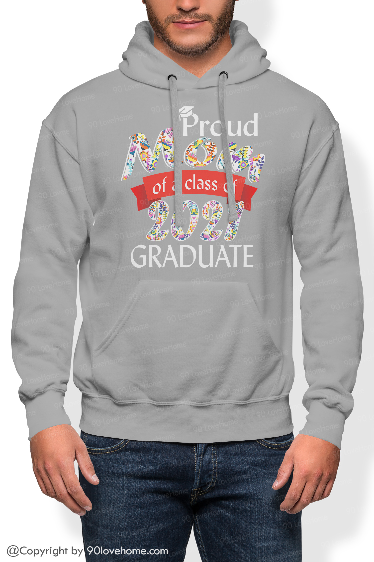 Family Hoodie Proud Mom Of A Class Of 2021 Graduate Hoodie