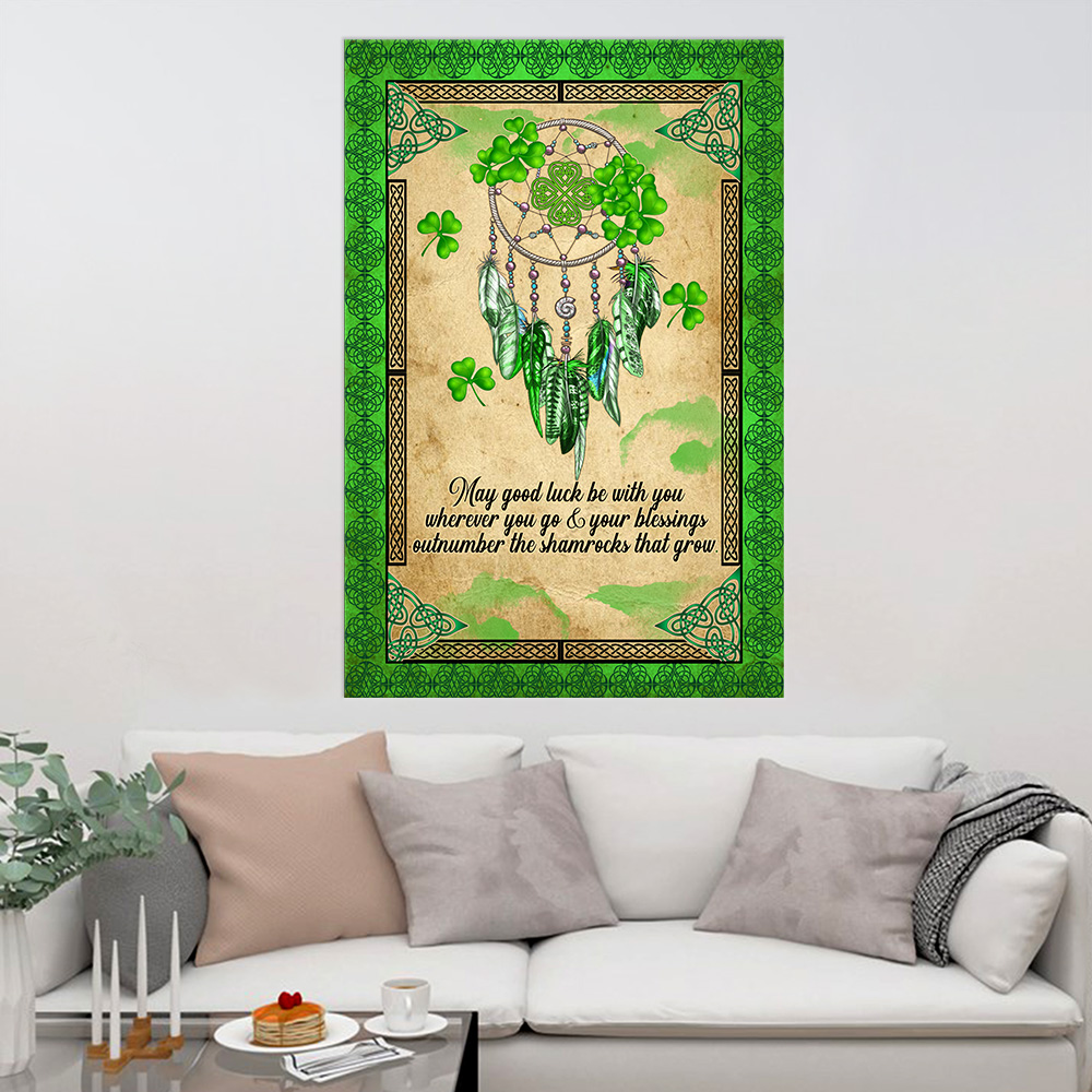 Personalized Lovely Wall Art Poster St Patrick's Day Irish May God Luck Be With You Pattern 1 Prints Decoracion Wall Art Picture Living Room Wall