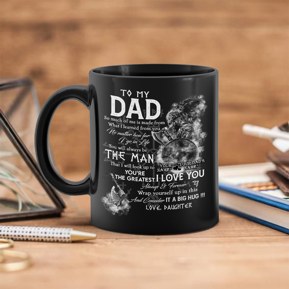 Coffee Mug Birthday Gift for Daughter from Dad I/'ll Always be with You Love Dad