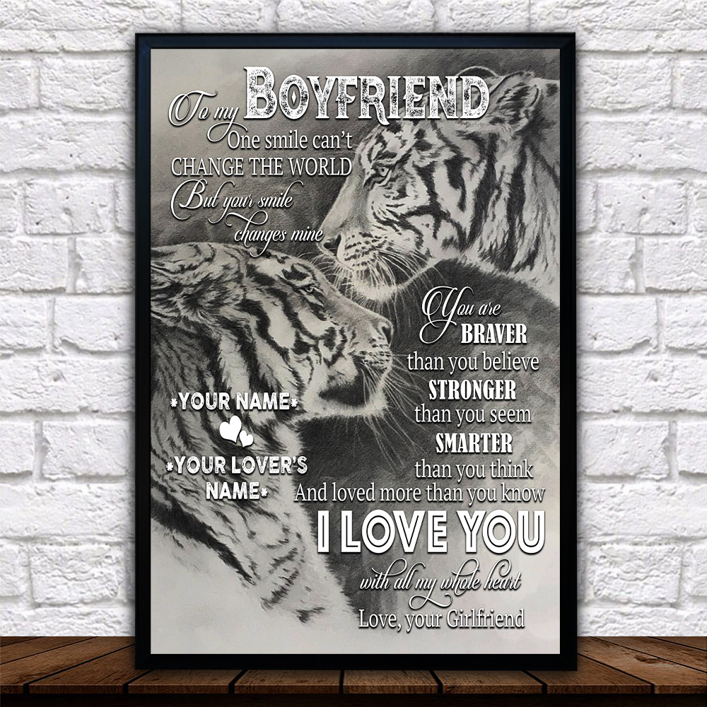 Personalized Lovely Wall Art Poster To My Boyfriend I Love You More Than You Know Pattern 1 Prints Decoracion Wall Art Picture Living Room Wall