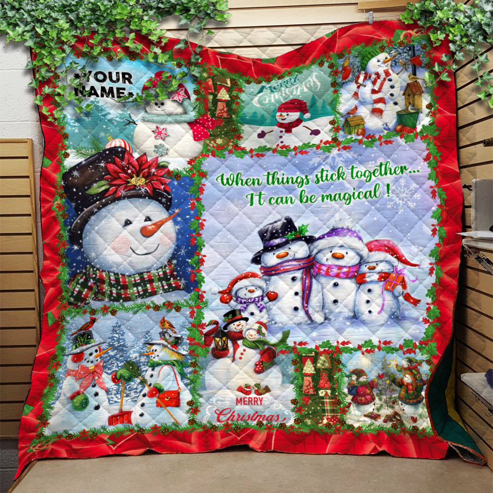Personalized Quilt Throw Blanket When Things Stick Together It Can Be Magical Pattern 2 Lightweight Super Soft Cozy For Decorative Couch Sofa Bed