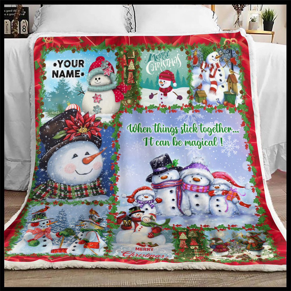Personalized Fleece Throw Blanket When Things Stick Together It Can Be Magical Pattern 2 Lightweight Super Soft Cozy For Decorative Couch Sofa Bed
