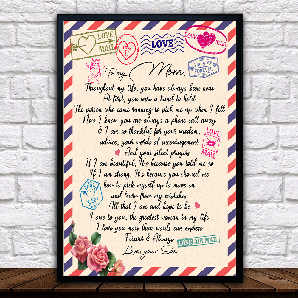 Personalized Lovely Wall Art Poster To My Mom I Owe To You The Greatest Woman In My Life Pattern 2 Prints Decoracion Wall Art Picture Living Room Wall