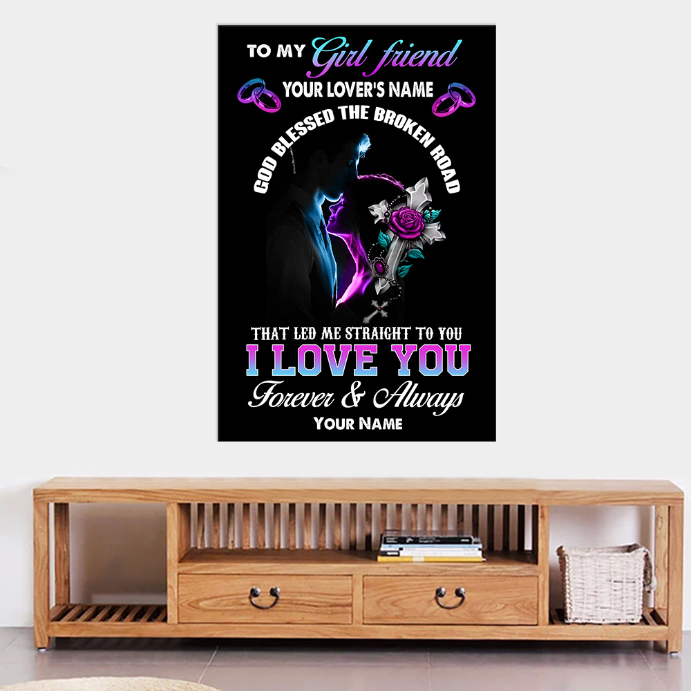 Personalized Lovely Wall Art Poster To My Girlfriend I Love You The Most Pattern 2 Prints Decoracion Wall Art Picture Living Room Wall