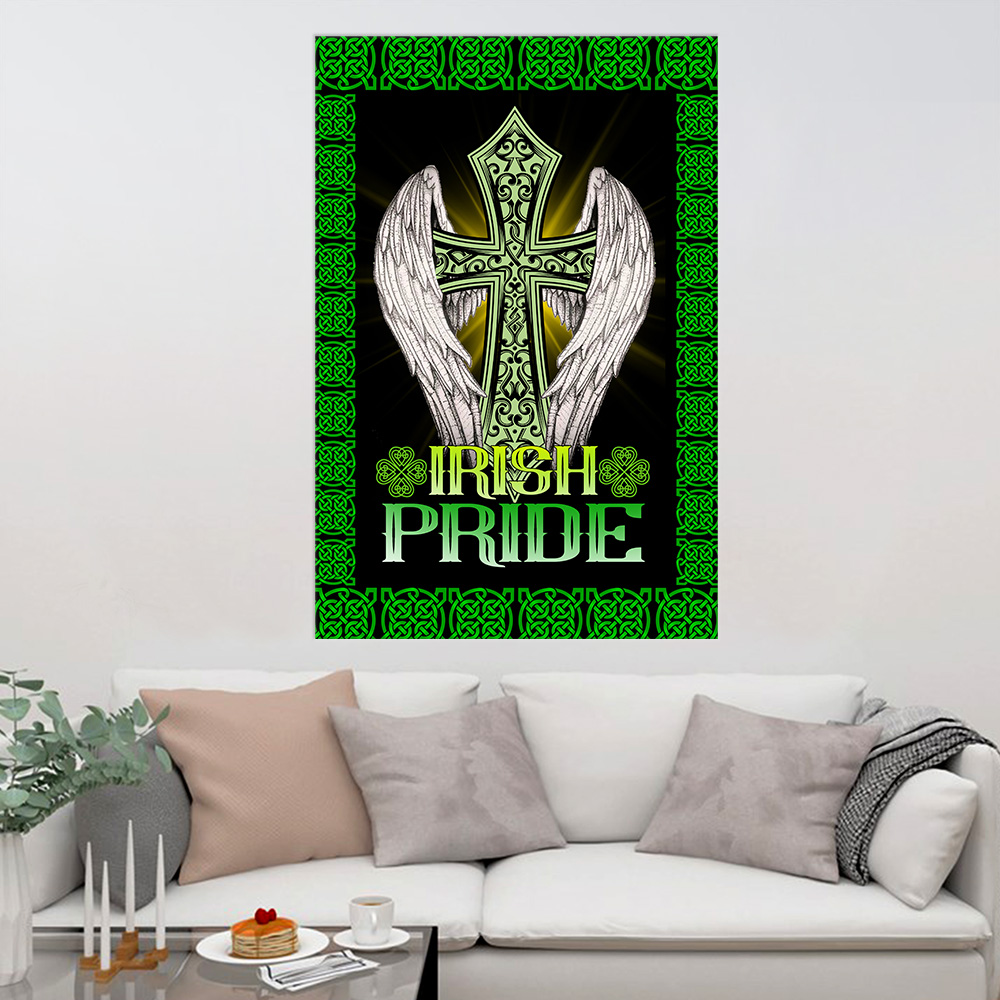 Personalized Lovely Wall Art Poster St Patrick's Day Heart Irish Pride  Pattern 1 Prints Decoracion Wall Art Picture Living Room Wall