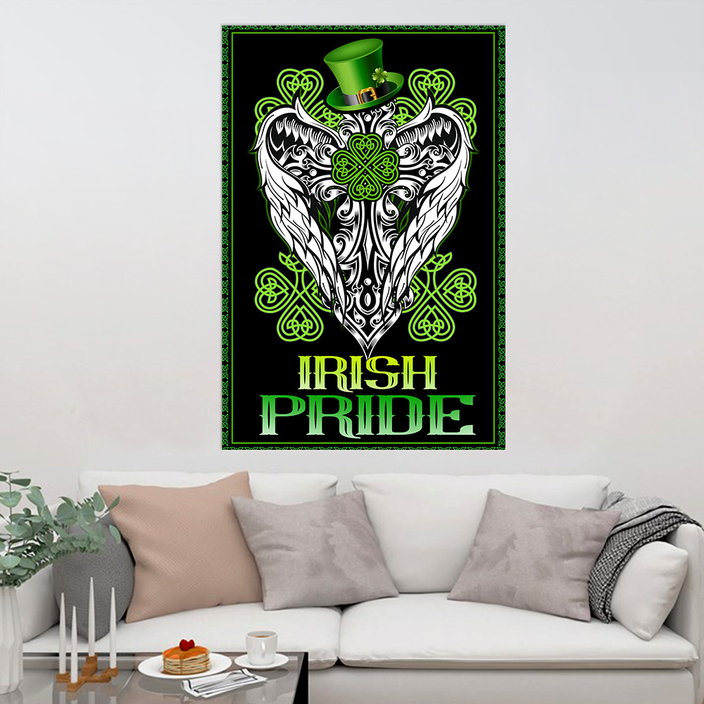 Personalized Lovely Wall Art Poster St Patrick's Day Heart Irish Pride Pattern 2 Prints Decoracion Wall Art Picture Living Room Wall
