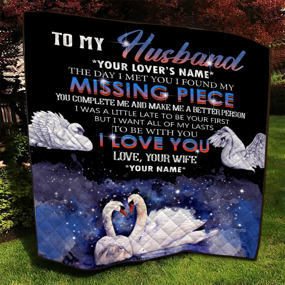 Personalized Quilt Throw Blanket To My  Husband  To Be With You I Love You Pattern 2 Lightweight Super Soft Cozy For Decorative Couch Sofa Bed