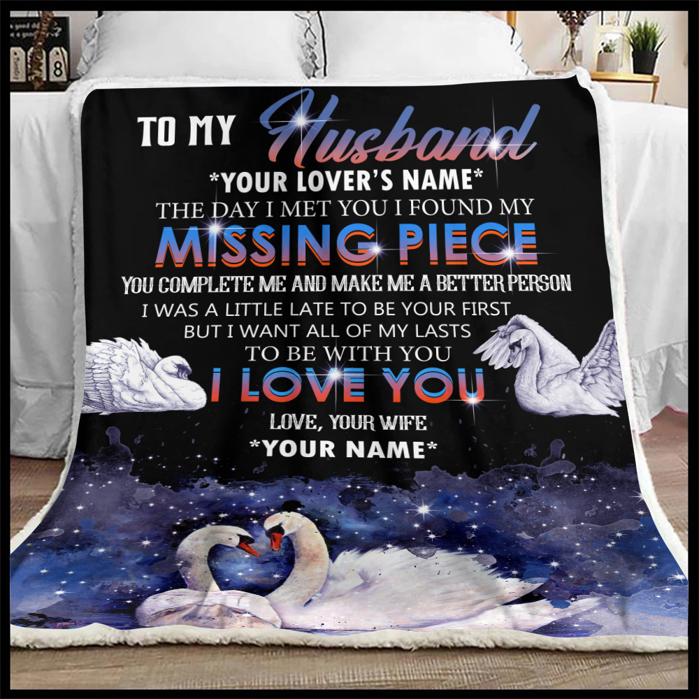 Personalized Fleece Throw Blanket To My  Husband  To Be With You I Love You Pattern 2 Lightweight Super Soft Cozy For Decorative Couch Sofa Bed