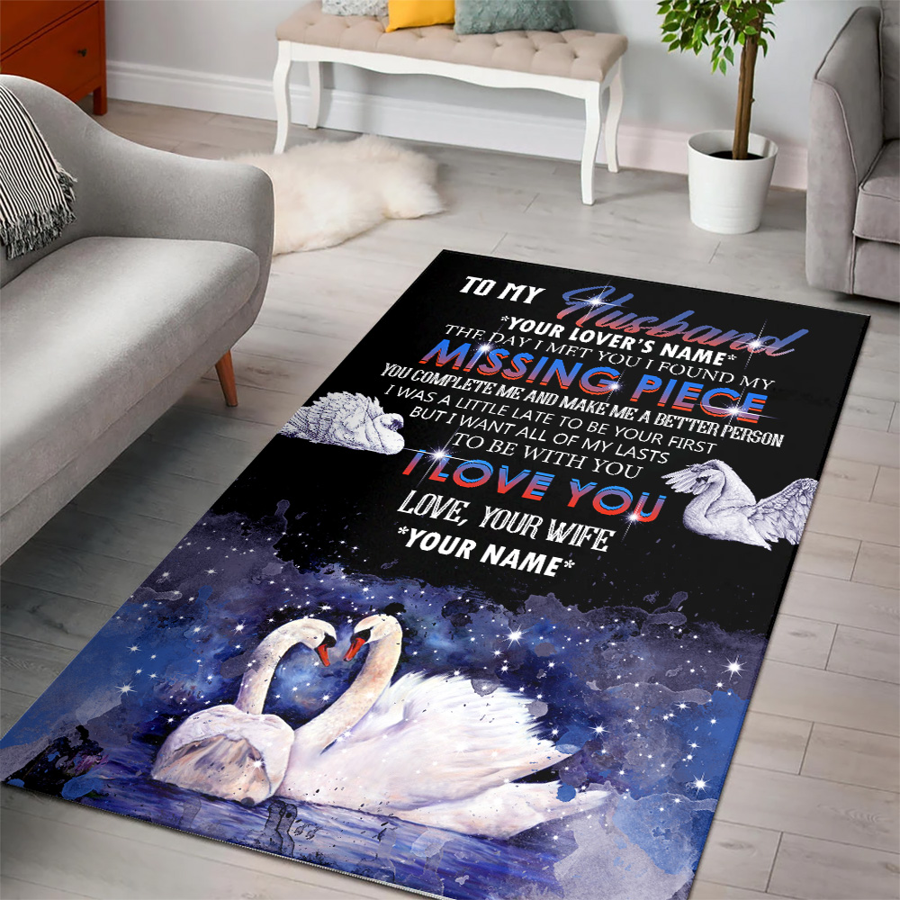 Personalized Floor Area Rugs To My  Husband  To Be With You I Love You Pattern 2 Indoor Home Decor Carpets Suitable For Children Living Room Bedroom Birthday Christmas Aniversary