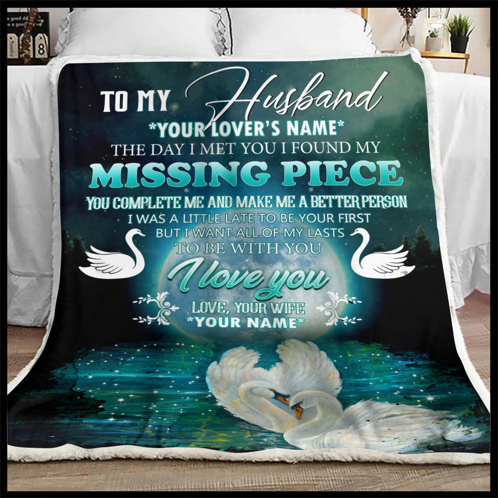 Personalized Fleece Throw Blanket To My  Husband  To Be With You I Love You Pattern 1 Lightweight Super Soft Cozy For Decorative Couch Sofa Bed