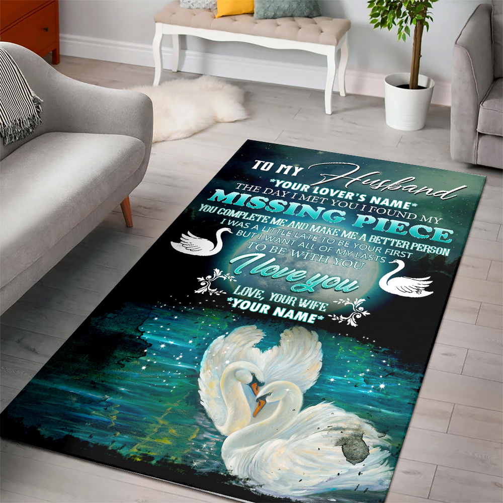 Personalized Floor Area Rugs To My  Husband  To Be With You I Love You Pattern 1 Indoor Home Decor Carpets Suitable For Children Living Room Bedroom Birthday Christmas Aniversary