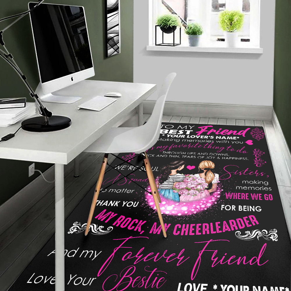 Personalized Floor Area Rugs To My Best Friend Is My Favorite Thing To Do Pattern 2 Indoor Home Decor Carpets Suitable For Children Living Room Bedroom Birthday Christmas Aniversary