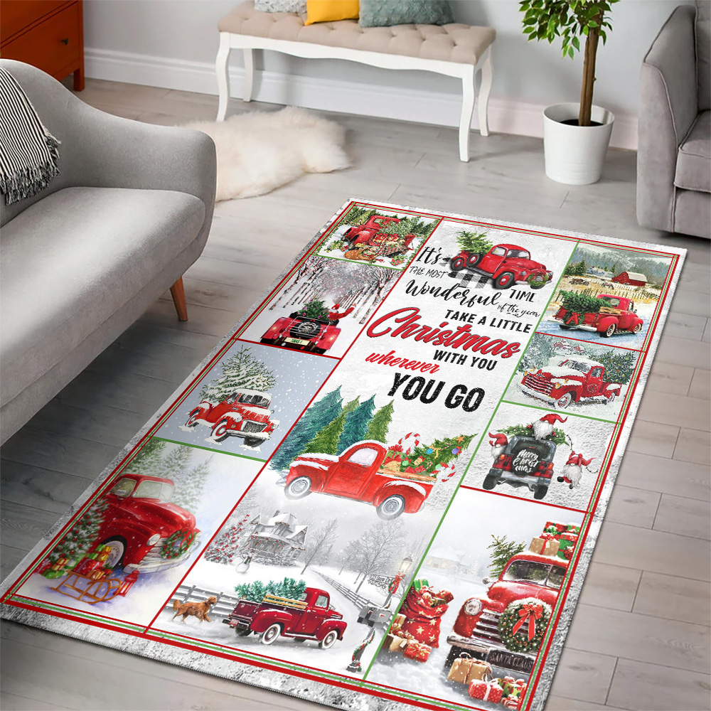 Personalized Floor Area Rugs Take A Little Christmas With You Wherever You Go Pattern 1 Indoor Home Decor Carpets Suitable For Children Living Room Bedroom Birthday Christmas Aniversary
