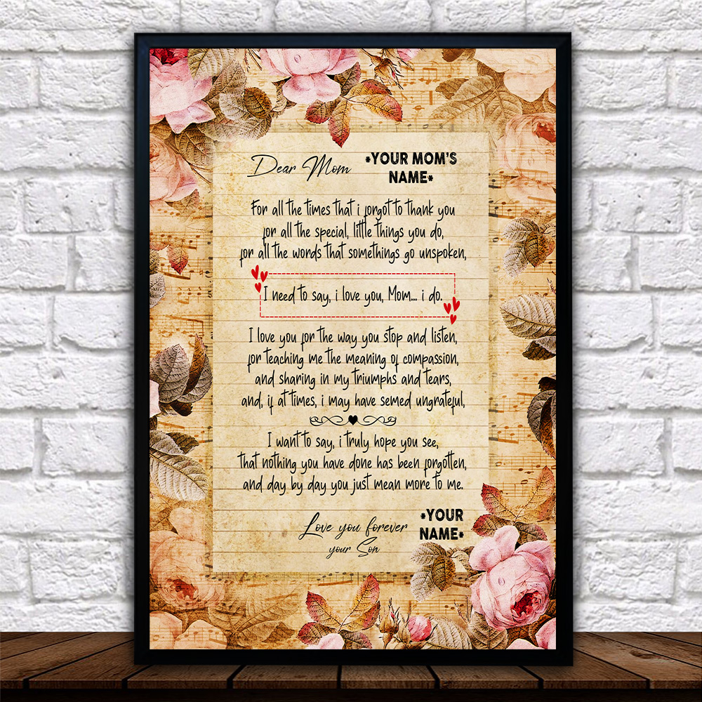 Personalized Wall Art Poster Canvas 1 Panel Day By Day You Just Mean More To Me Pattern 2 Great Idea For Living Home Decorations Birthday Christmas Aniversary