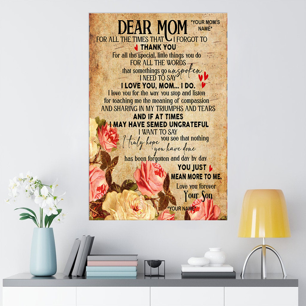 Personalized Wall Art Poster Canvas 1 Panel Day By Day You Just Mean More To Me Pattern 1 Great Idea For Living Home Decorations Birthday Christmas Aniversary