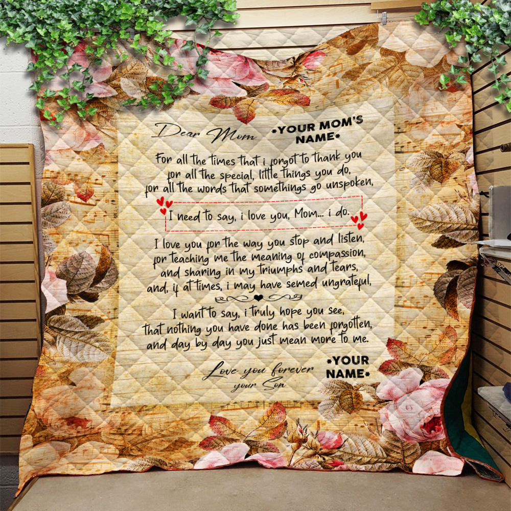 Personalized Quilt Throw Blanket Day By Day You Just Mean More To Me Pattern 2 Lightweight Super Soft Cozy For Decorative Couch Sofa Bed