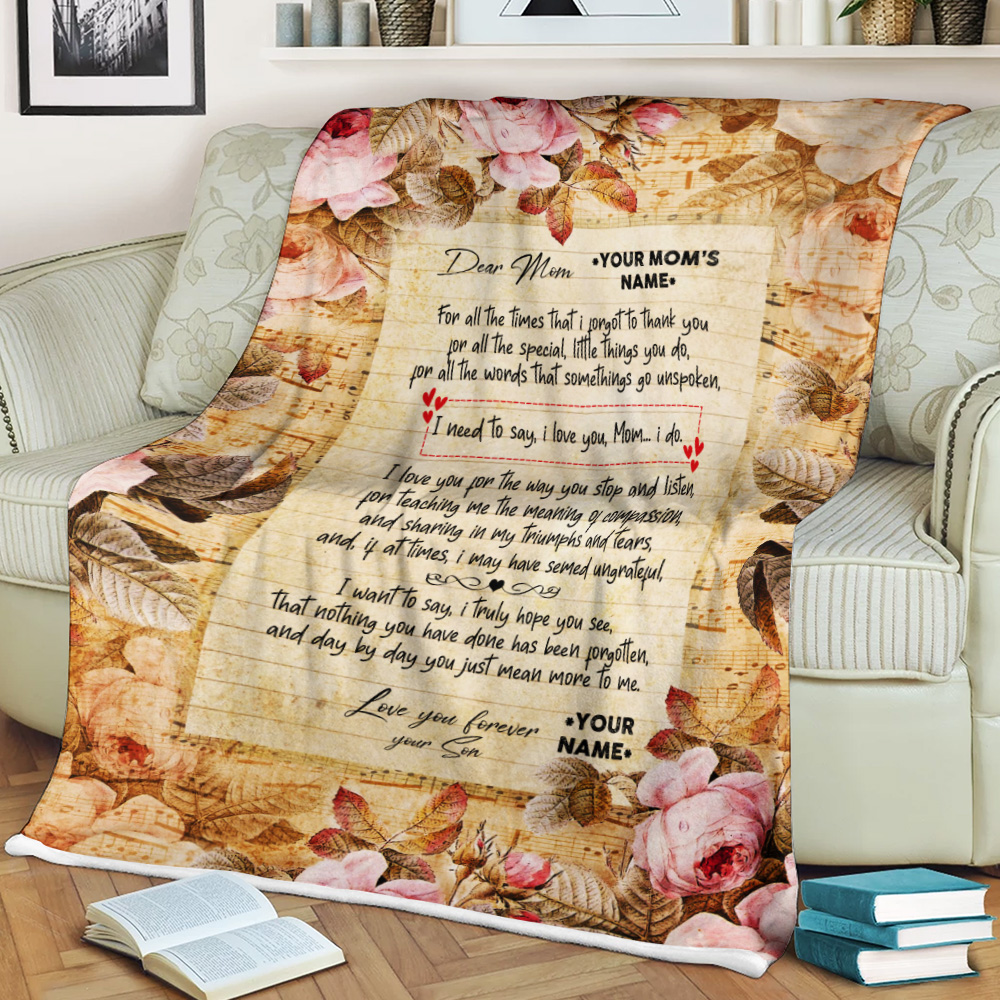 Personalized Fleece Throw Blanket Day By Day You Just Mean More To Me Pattern 2 Lightweight Super Soft Cozy For Decorative Couch Sofa Bed