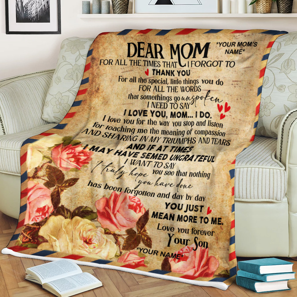Personalized Fleece Throw Blanket Day By Day You Just Mean More To Me Pattern 1 Lightweight Super Soft Cozy For Decorative Couch Sofa Bed