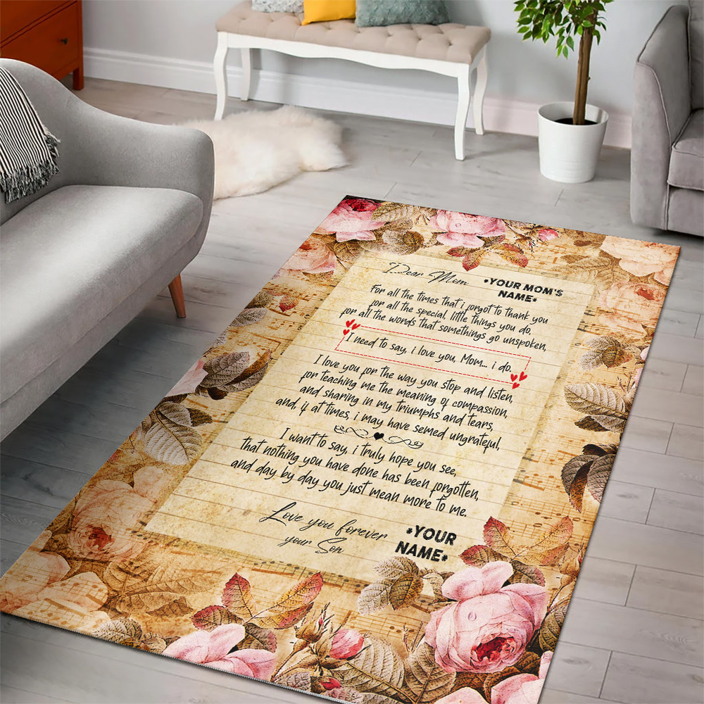 Personalized Floor Area Rugs Day By Day You Just Mean More To Me Pattern 2 Indoor Home Decor Carpets Suitable For Children Living Room Bedroom Birthday Christmas Aniversary