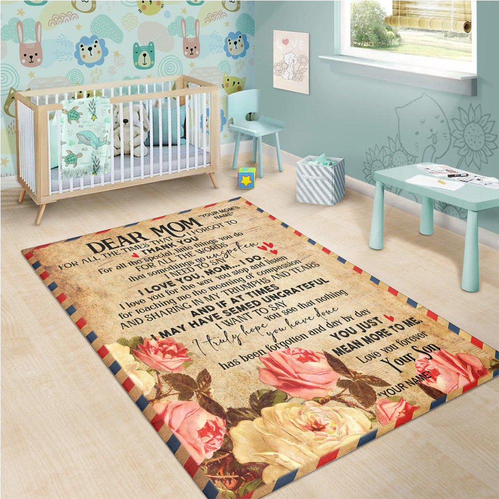 Personalized Floor Area Rugs Day By Day You Just Mean More To Me Pattern 1 Indoor Home Decor Carpets Suitable For Children Living Room Bedroom Birthday Christmas Aniversary