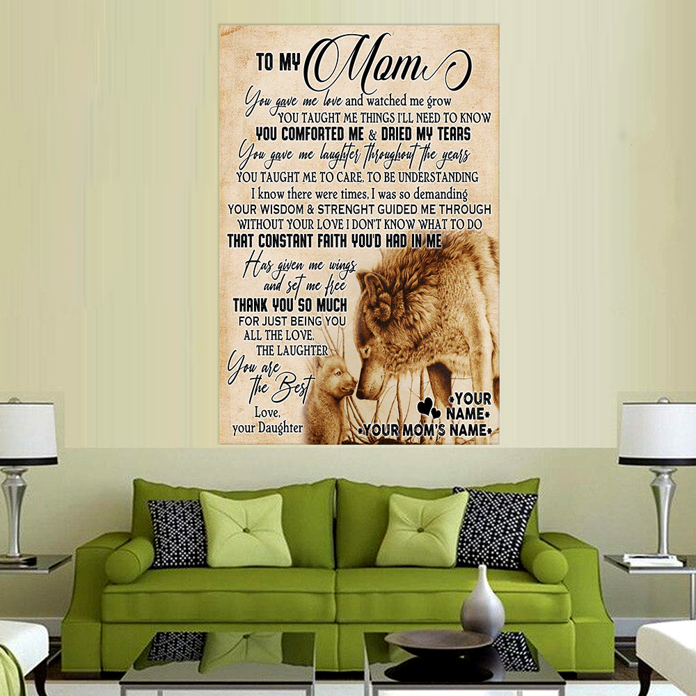 Personalized Lovely Wall Art Poster To My Mom You Are The Best Pattern 2 Prints Decoracion Wall Art Picture Living Room Wall