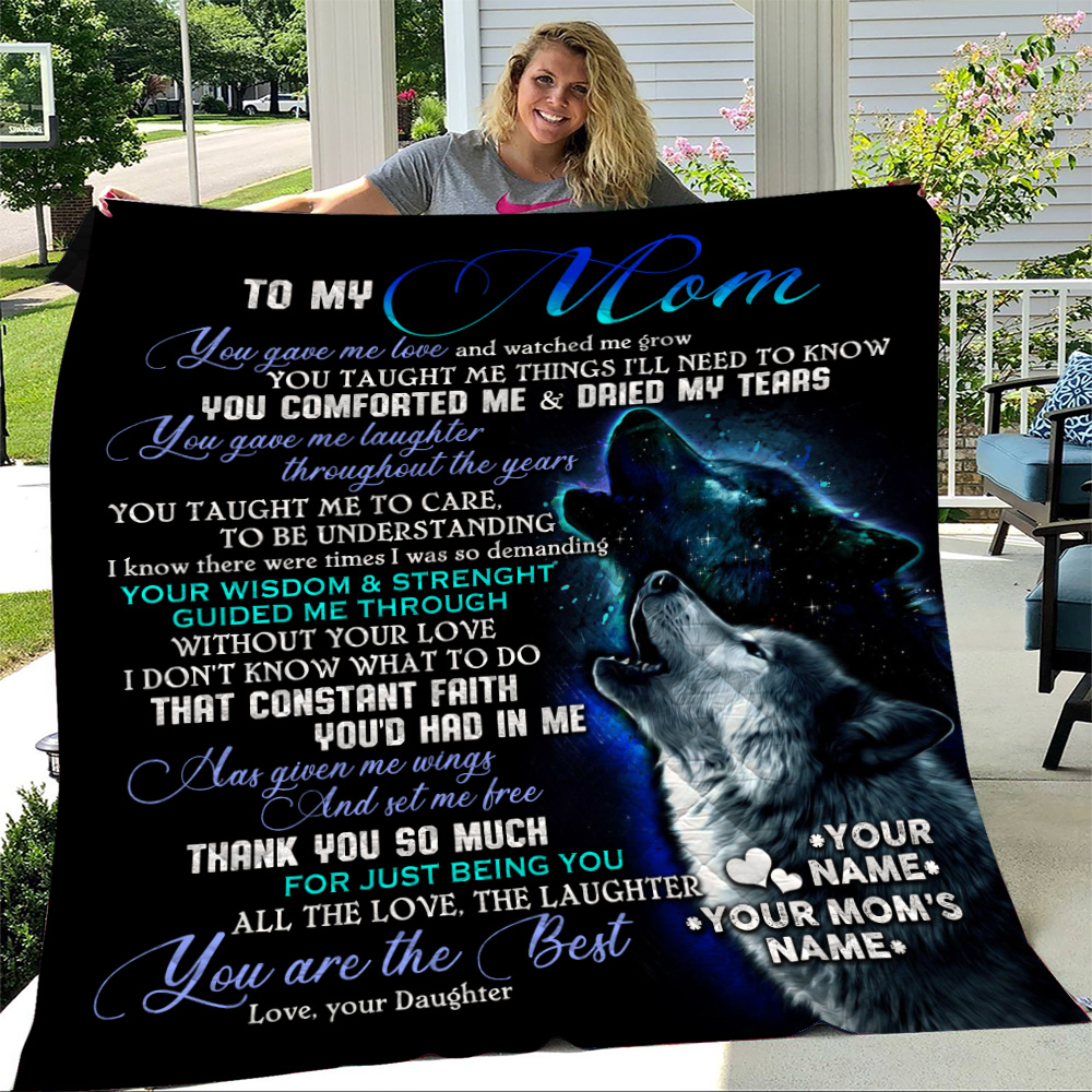 Personalized Lovely Quilt Throw Blanket To My Mom You Are The Best Pattern 1 Lightweight Super Soft Cozy For Decorative Couch Sofa Bed